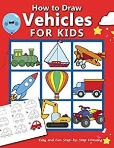 How to Draw Vehicles for Kids - Book cover