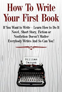How To Write Your First Book - Book cover