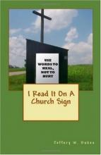 I Read It On A Church Sign