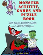 Monster Activity, Games and Puzzle Book - Book cover