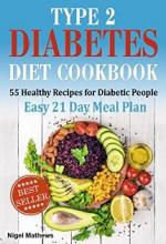 Type 2 Diabetes Diet Cookbook & Meal Plan - Book cover