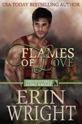 Flames of Love: A Firefighter Western Romance Novel - Book cover