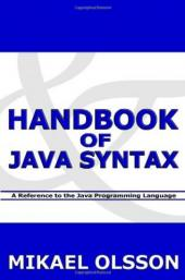 Handbook of Java Syntax - Book Image Did Not Load